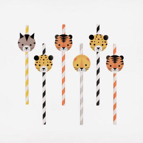 kinderfeestje-versiering-papieren-rietjes-jungle-animals-2