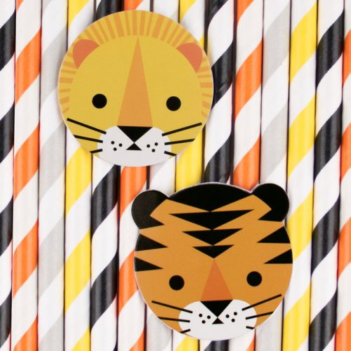 kinderfeestje-versiering-papieren-rietjes-jungle-animals