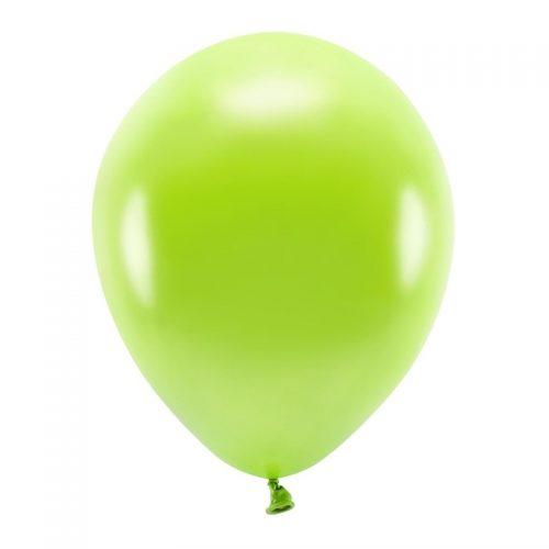 feestartikelen-eco-ballonnen-metallic-green-apple