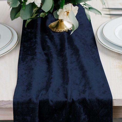 feestartikelen-velvet-tafelloper-navy-blue-2