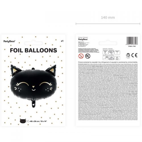halloween-decoratie-folieballon-black-cat-2