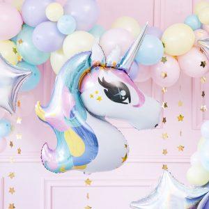 feestartikelen-folieballon-unicorn-mint-white