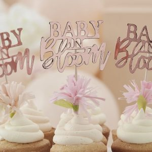 babyshower-versiering-cupcake-toppers-baby-in-bloom-2