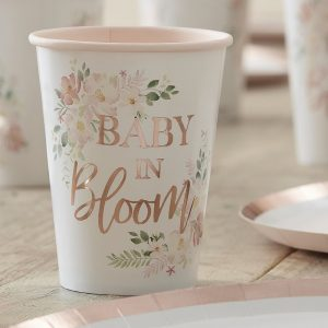 babyshower-versiering-papieren-bekertjes-baby-in-bloom-2