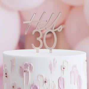 feestartikelen-acryl-cake-topper-hello-30-rose-gold-mix-it-up-2