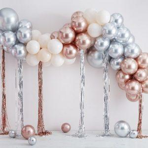 feestartikelen-ballonnenboog-chrome-silver-rose-gold-mix-it-up