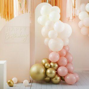 feestartikelen-ballonnenboog-peach-gold-mix-it-up