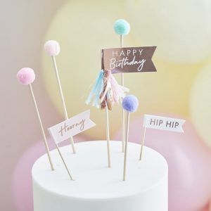 feestartikelen-cake-toppers-happy-birthday-pompom-mix-it-up