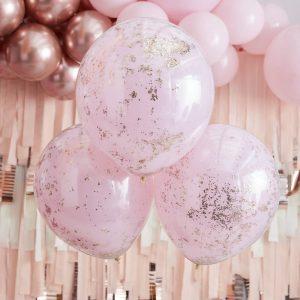 feestartikelen-confetti-ballonnen-pink-double-stuffed-rose-gold-glitter-mix-it-up