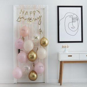 feestartikelen-deurkit-met-ballonnen-happy-birthday-peach-gold-mix-it-up