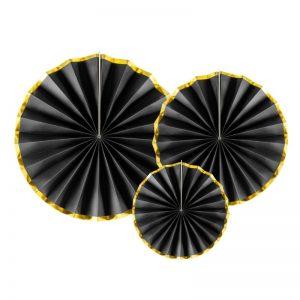 feestartikelen-paper-fans-black-gold